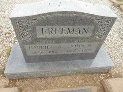 Harriet Ann <I>Clayton</I> Freeman