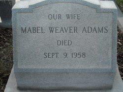 Mabel <I>Weaver</I> Adams