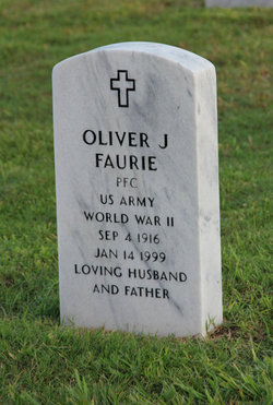 PFC Oliver J Faurie