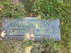 Donald A. <I>Macauley</I> Macaulay