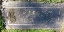 Violet Viola Pauline <I>Miller</I> Mickelson