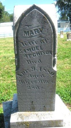 Mary <I>Wright</I> Atchison