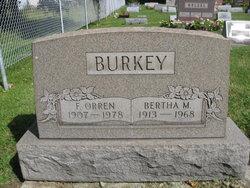 Bertha Minerva <I>Hawn</I> Burkey