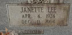 Janette <I>Lee</I> Boyd