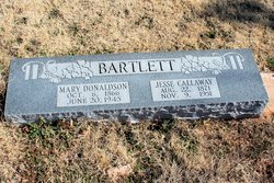 """Mary Emma """"Mamie"""" <I>Donaldson</I> Bartlett"""