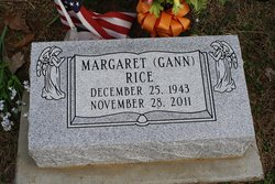 Margaret A <I>Gann</I> Rice