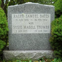 Susie Mabell <I>Thombs</I> Bates