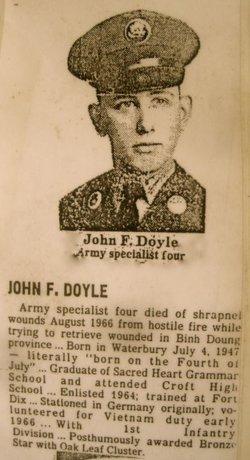 Spec John Francis Doyle (1947-1966) - Find A Grave Memorial