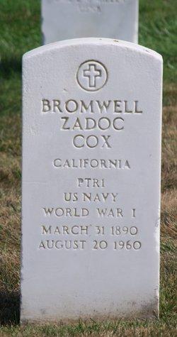 Bromwell Zadoc Cox