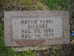 Mattie Pearl <I>Meadows</I> Kilgore