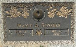 Maxie A. <I>Redd</I> Sosebee