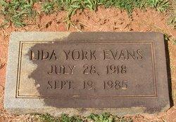 Lida <I>York</I> Evans