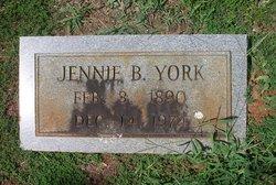 Jennie B York