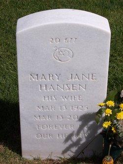 Mary Jane <I>Frost</I> Hansen