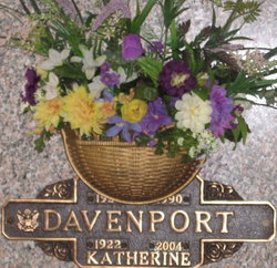 Katherine Francis <I>Alvey</I> Davenport