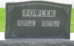 Martha Jane <I>Bellamy</I> Fowler