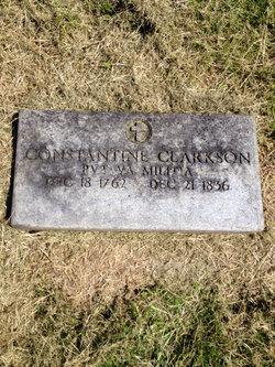 Pvt Constantine David Clarkson