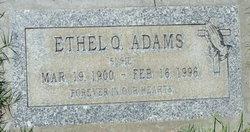 """Ethel Q. """"Susie"""" Adams"""