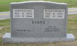 Jessie <I>Rumley</I> Evans