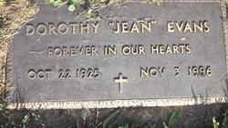 Dorothy Jean <I>Young</I> Evans
