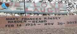 Mary Frances Harden Kinsey Beard (1934-2012) - Find A Grave