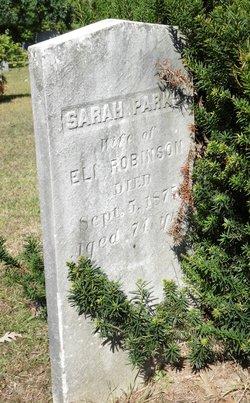 Sarah <I>Parks</I> Robinson