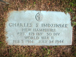 Pvt Charles Stanley Indziniak