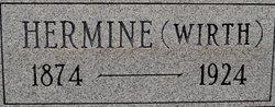 Hermine <I>Wirth</I> Lehmann