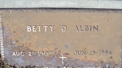 Betty <I>Daniels</I> Albin