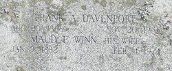 Maud Ella <I>Winn</I> Davenport