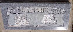 Lela <I>Thurston</I> Richards
