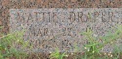 """Martha Jane """"Mattie"""" <I>Trimble</I> Draper"""