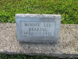 Minnie Lee <I>Kinslow</I> Dearing