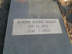 Martha <I>Rogers</I> Butler