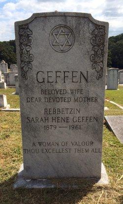 Sarah Hene <I>Rabinowitz</I> Geffen