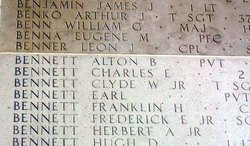 Sgt Frederick E Bennett Jr.