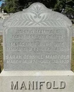 Margaret J. <I>Gemmill</I> Manifold