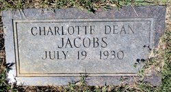 Charlotte Dean <I>Vest</I> Jacobs