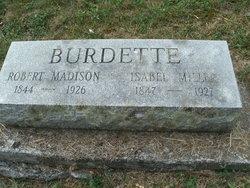 Isabelle Rebecca <I>Miller</I> Burdette