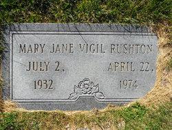 """Mary Jane """"Marie Juanita"""" <I>Vigil</I> Rushton"""
