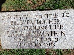 Sarah <I>Schlissel</I> Simstein