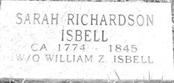 Sarah <I>Richardson</I> Isbell