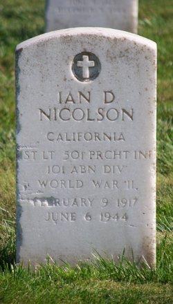 1LT Ian D Nicolson
