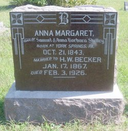 Anna Margaret <I>Shelly</I> Becker