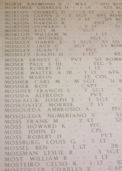 Sgt Jack C Moseley