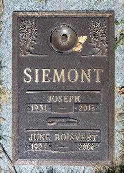 Mrs June <I>Boisvert</I> Siemont