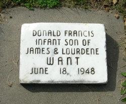 Donald Francis Want