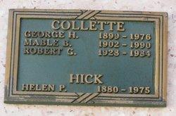 """Helen """"Ella"""" <I>Peterson</I> Hick"""