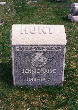 Jennie June <I>Benefiel</I> Hunt