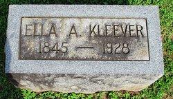 Ella Adaline <I>Shewalter</I> Kleever